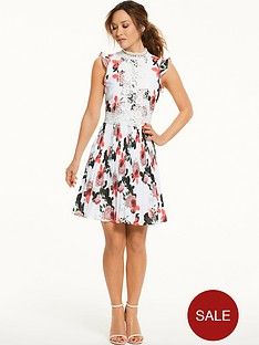 myleene-klass-pleated-lace-panel-tea-dress