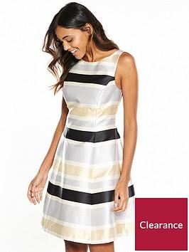 coast-lucie-metallic-stripe-midi-dress
