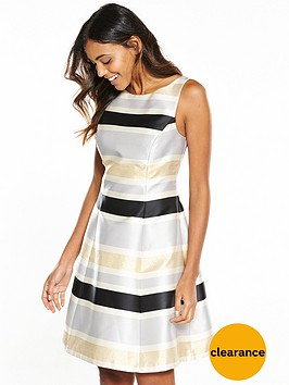 coast-lucie-metallic-stripe-midi-dress