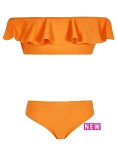 river-island-orange-bardot-frill-bikini-set
