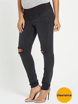 rochelle-humes-maternity-skinny-jeans-black