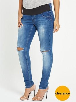 rochelle-humes-maternity-skinny-jeans-indigo