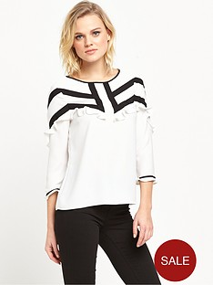 river-island-frill-top-white