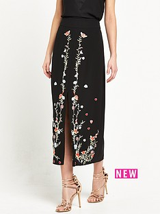 river-island-embroidered-pencil-midi-skirt-black