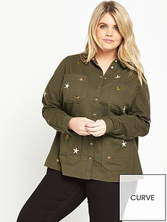 ri-plus-khaki-shirt-with-star-detail