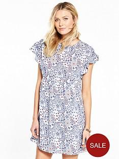 v-by-very-ruffle-sleeve-tunic-dress