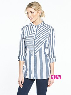 v-by-very-stripe-longline-shirt