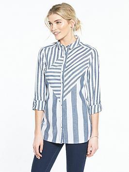 v-by-very-stripe-longline-shirt