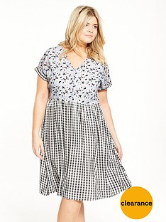 lost-ink-curve-smock-dress-in-mixed-print