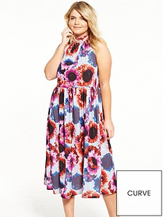 lost-ink-curve-dress-in-sunflower-print