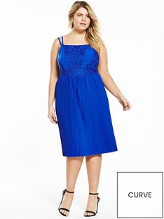 lost-ink-curve-lost-ink-curve-skater-dress-with-lace-amp-pleats