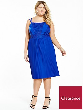 lost-ink-plus-skater-dress-with-lace-and-pleats