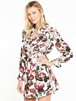 v-by-very-high-neck-floral-dress