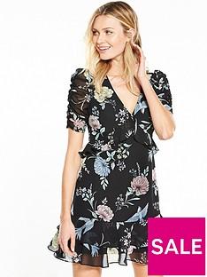 v-by-very-short-sleeve-printed-dress-floral-print