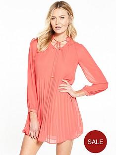 v-by-very-pleated-long-sleeve-dress