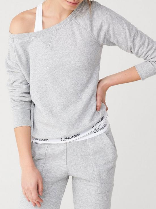 9851d07310 Calvin Klein Modern Cotton Lounge Sweater - Grey