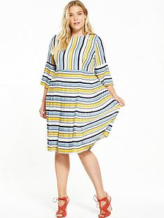 lost-ink-curve-pleated-hem-dress-in-stripe