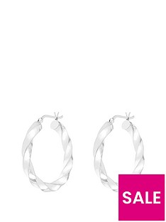 love-silver-sterling-silver-30mm-twisted-hoop-earring