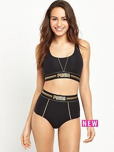 puma-gold-logo-high-waist-short