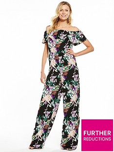 v-by-very-printed-frill-bardot-jumpsuit