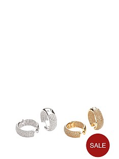 buckley-london-buckley-rhodium-and-gold-plate-cubic-zirconia-earring-set