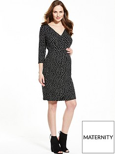 v-by-very-maternity-tea-dress-ndash-spot-print