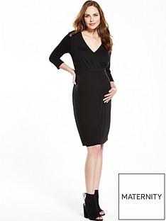 v-by-very-maternity-tea-dress-ndash-black