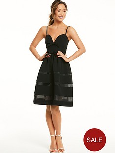 myleene-klass-mono-bow-mesh-panel-dress-black