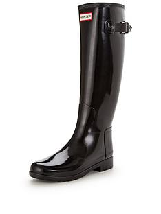 hunter-refined-tall-gloss-wellynbsp--black