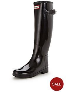hunter-refined-tall-gloss-wellynbsp--black