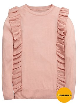 v-by-very-girls-frill-knitted-jumper