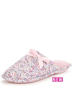 totes-isotoner-totes-pink-floral-memory-foam-mule-slipper
