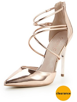 office-spears-cross-strap-pointed-toe-stiletto-heel-rose-goldnbsp