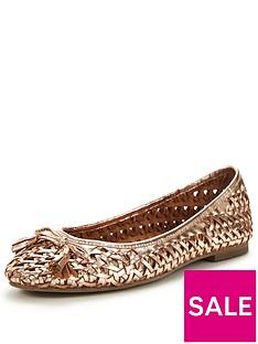 office-little-metallic-ballerina-shoes-rose-gold