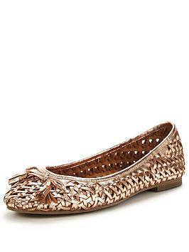 office-little-metallic-ballerina-shoes-rose-gold