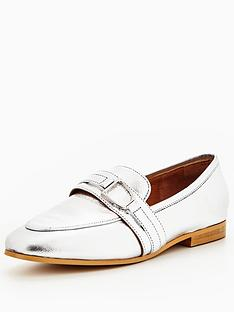 office-leer-metallic-loafer