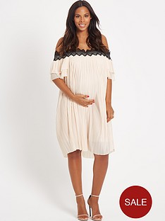 rochelle-humes-maternity-dress-ndash-nude