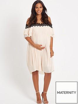 rochelle-humes-maternity-dress-ndash-nude