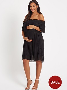 rochelle-humes-maternity-dress-ndash-black