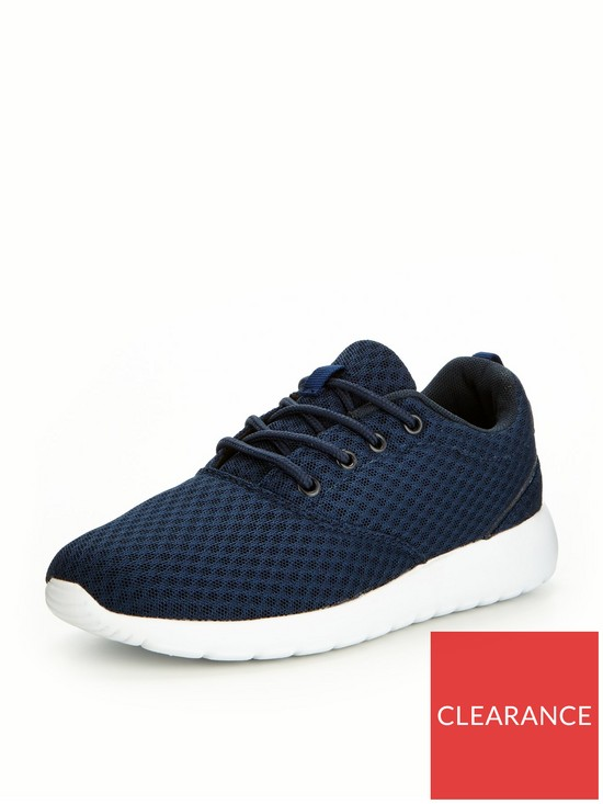 f6b310983024c V by Very Max Older Boys Trainers - Navy | very.co.uk