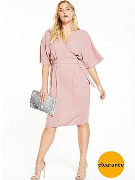 v-by-very-curve-curve-woven-wrap-kimono-sleeve-dress-nbsp--blush-pink