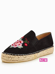 v-by-very-marigold-embroidered-espadrille-black