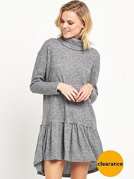 river-island-long-sleeve-smock-dress-grey