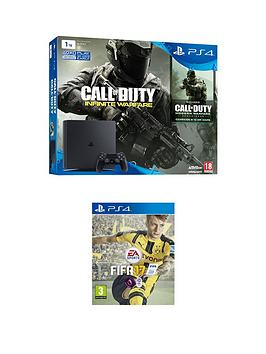 playstation-4-ps4-1tb-slim-with-cod-infinite-warfare-hard-bundle-fifa-17-and-365-psn-subscription