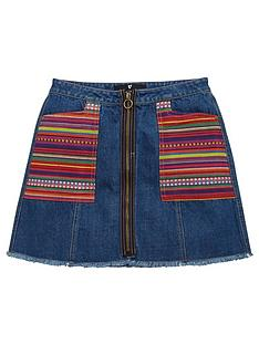 v-by-very-stripe-patch-pocket-denim-a-line-skirt