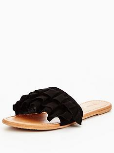 v-by-very-ciara-suede-ruffle-slider-black