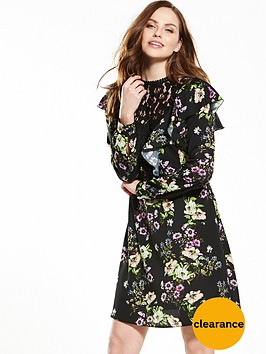 rochelle-humes-lace-panel-floral-dress