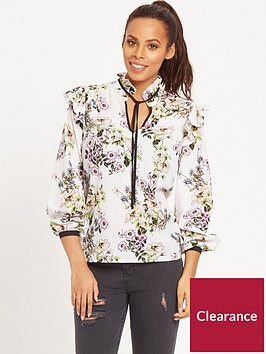 rochelle-humes-ribbon-tie-front-blouse-ivory-print