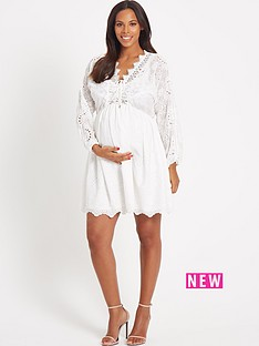 rochelle-humes-maternitynbspdress-ndash-ivory