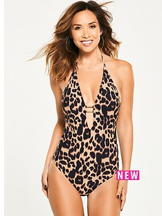 myleene-klass-leopard-print-plunge-swimsuit